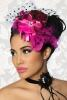 Damen Mini Hut Fascinator pink