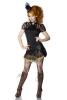 Damen Steampunk Wickel-Mini-Rock