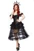 Karneval Halloween Damen Kostüm Black Gothic Queen
