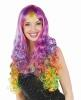Karneval Damen Perücke Rainbow Locken