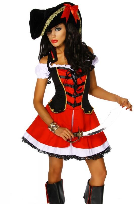Karneval Damen Kostum Piratin Donna Faschingskram