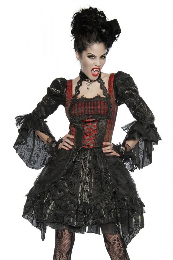karneval halloween damen kost m edel vampir faschingskram. Black Bedroom Furniture Sets. Home Design Ideas