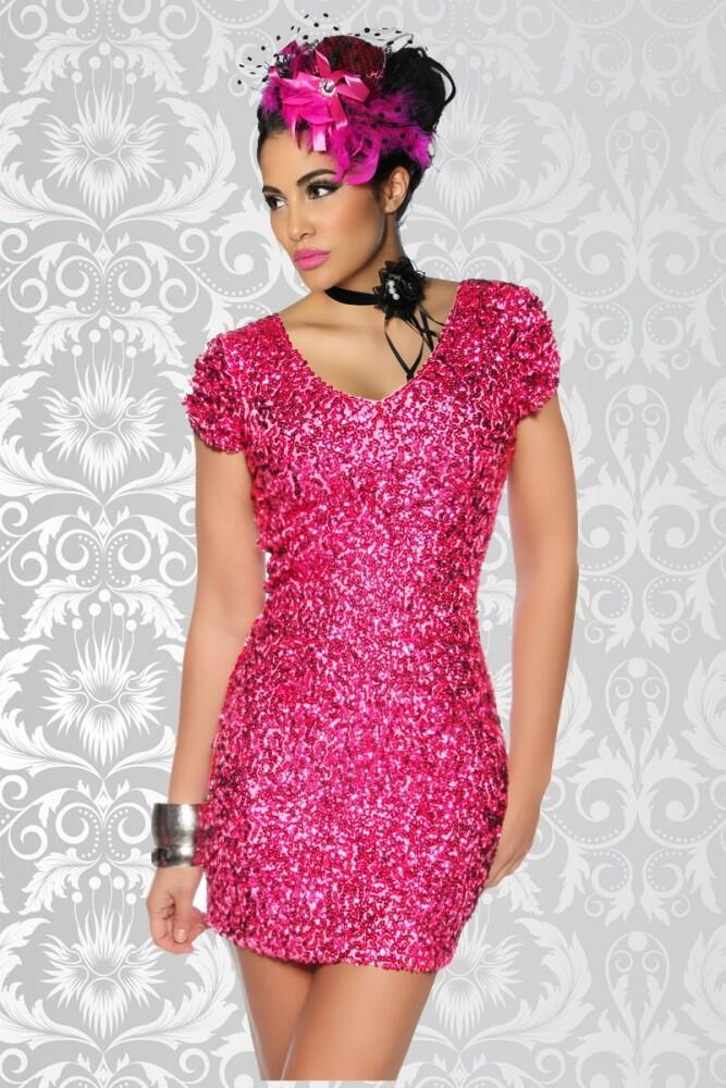 Pinkes kleid mit glitzer