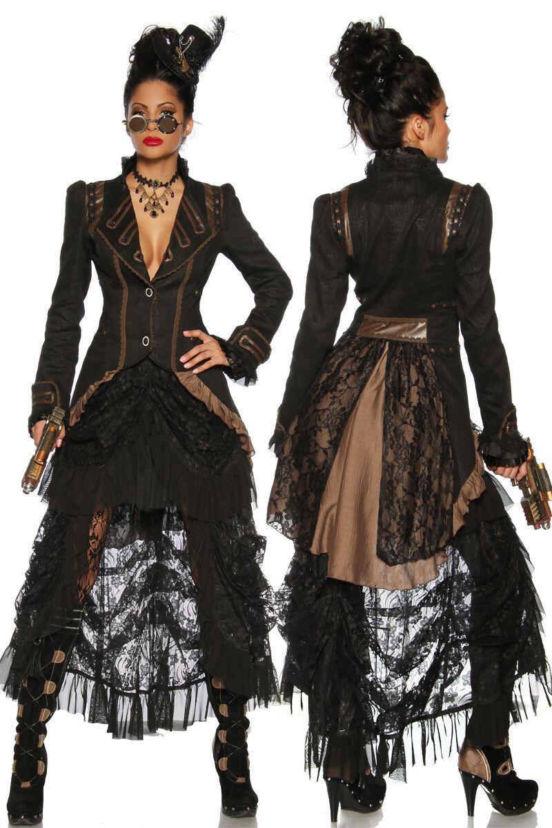 karneval steampunk damen mantel faschingskram. Black Bedroom Furniture Sets. Home Design Ideas