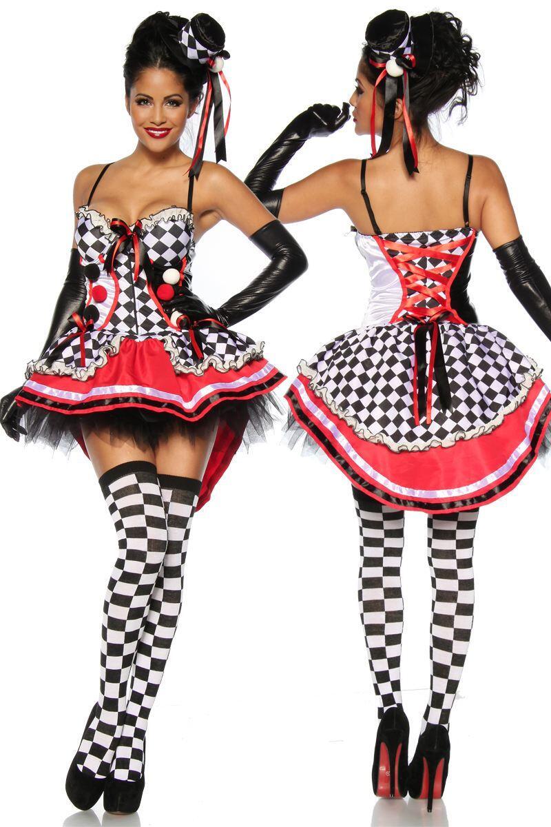 1e8fdf5f6262e Karneval Damen Kostüm Sexy Harlekin