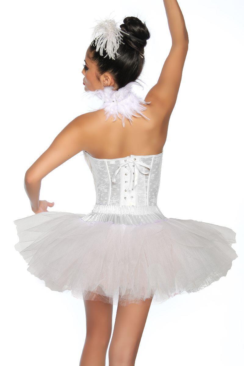 Karneval Damen Petticoat Tutu weiss - Faschingskram