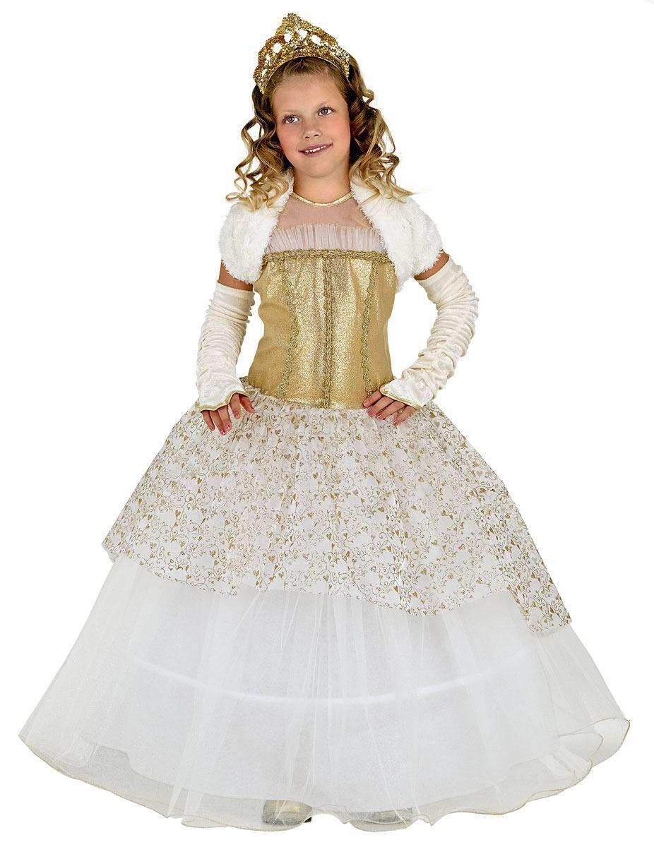 Karneval Madchen Kostum Gold Prinzessin Faschingskram