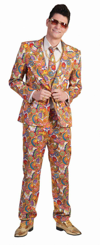 Karneval Herren Kostum Hippie Anzug Faschingskram