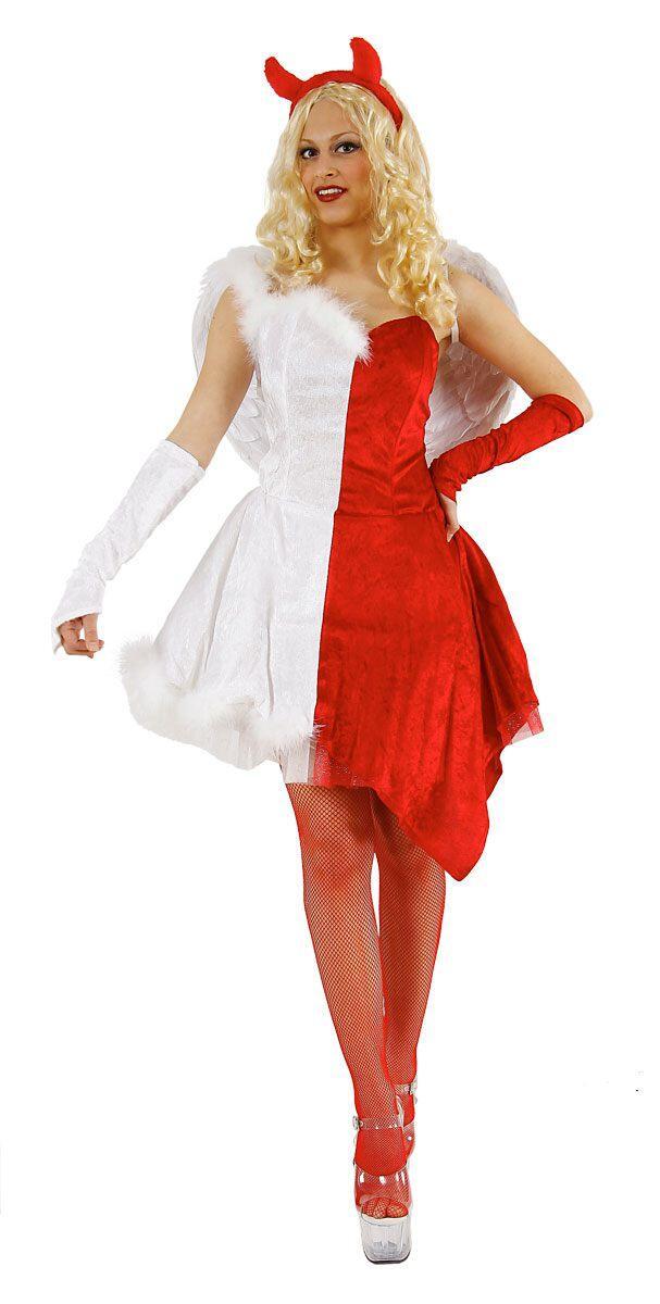Karneval Damen Kostum Engel Teufel Faschingskram