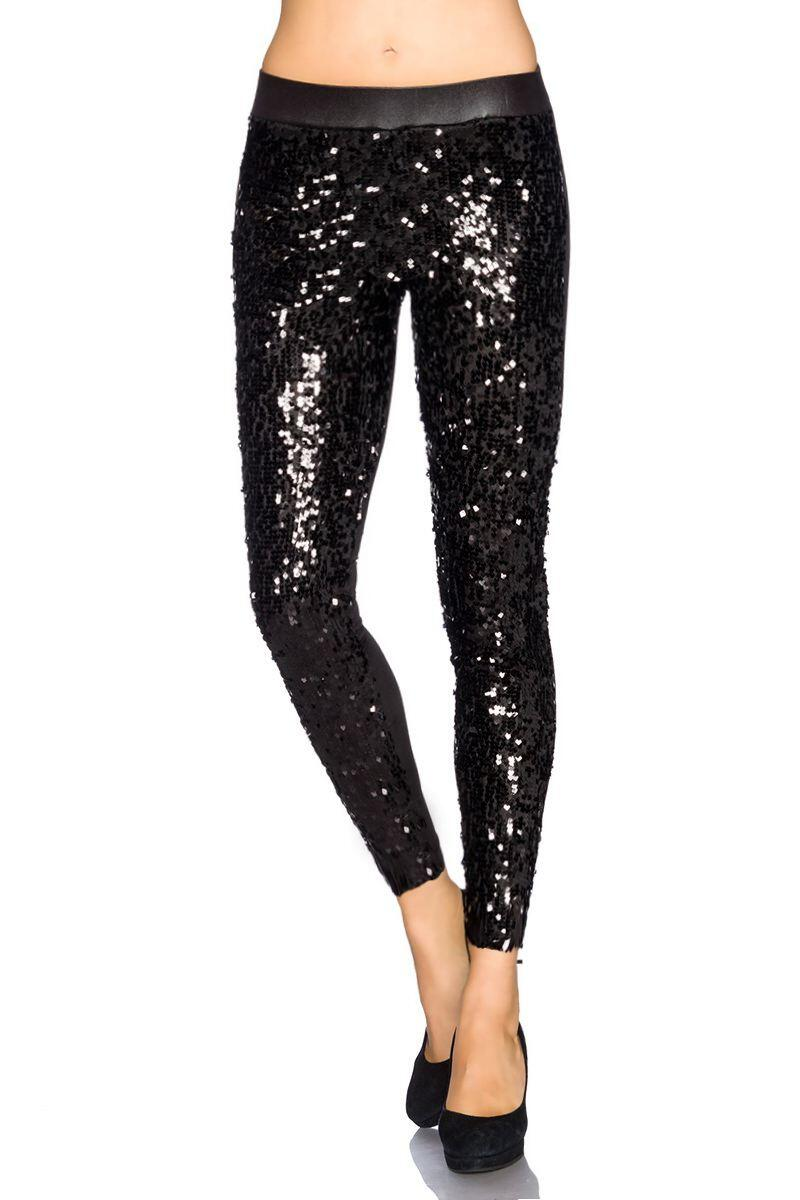 Atixo Damen Leggings Pailletten