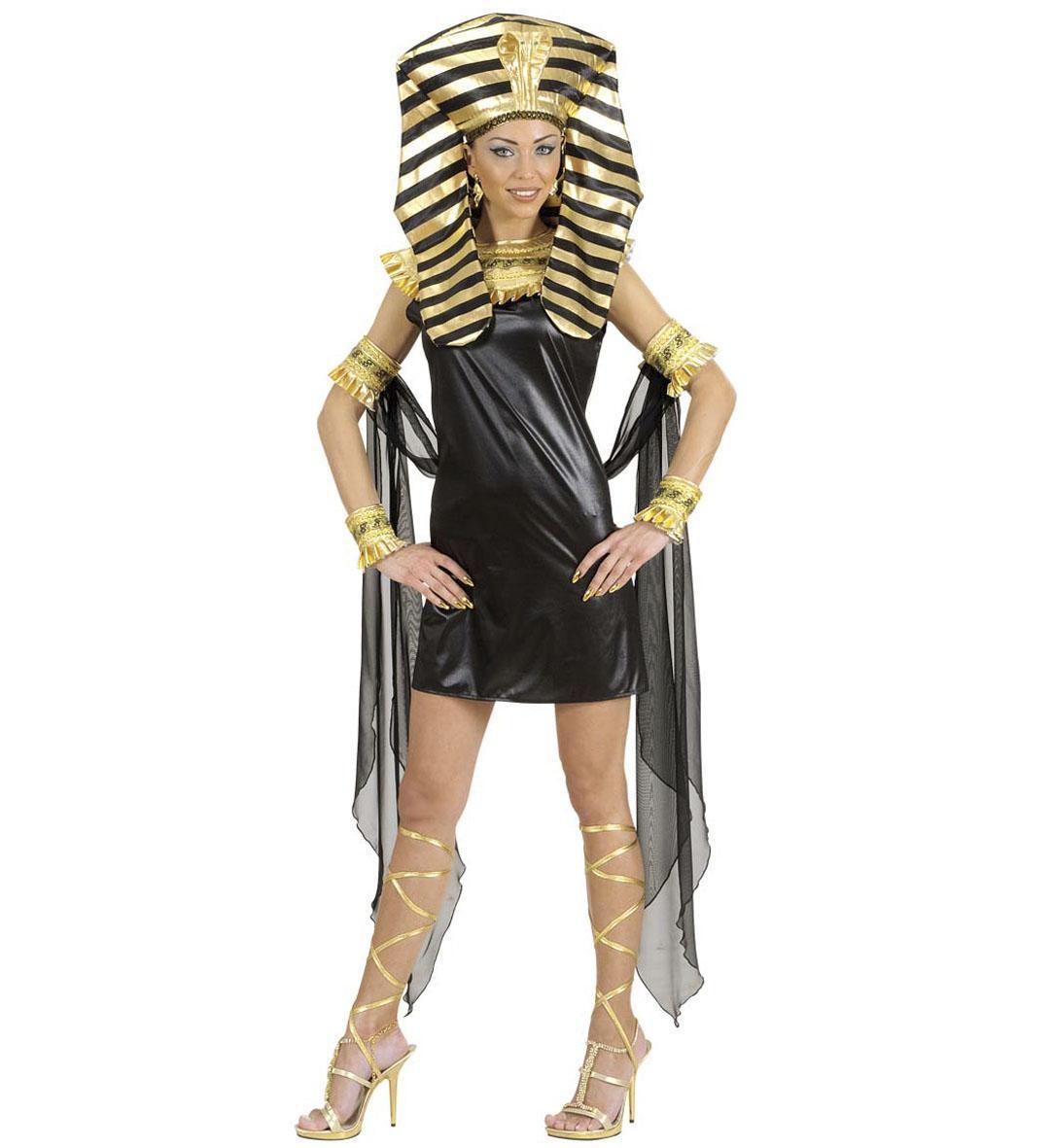 Karneval Damen Kostum Cleopatra Schwarz Faschingskram