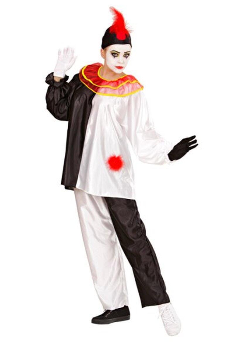 Widmann Karneval Damen Kostum Clown Pierrot Faschingskram