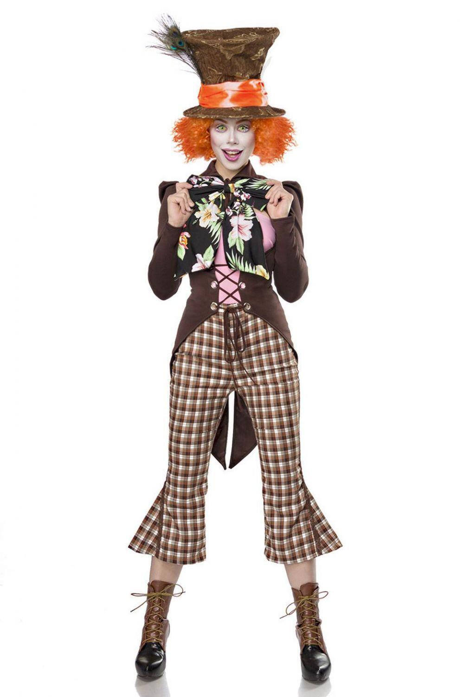 Karneval Damen Kostum Hutmacher Crazy Hatter Faschingskram