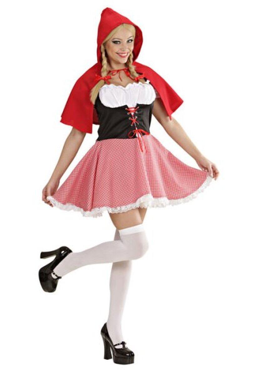 Karneval Damen Kostum Rotkappchen Red Capelet