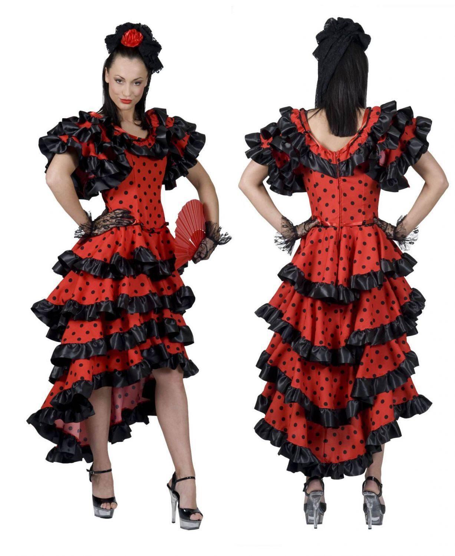 Karneval Spanierin Damen Spanish Kostüm Red AqZznAFxc