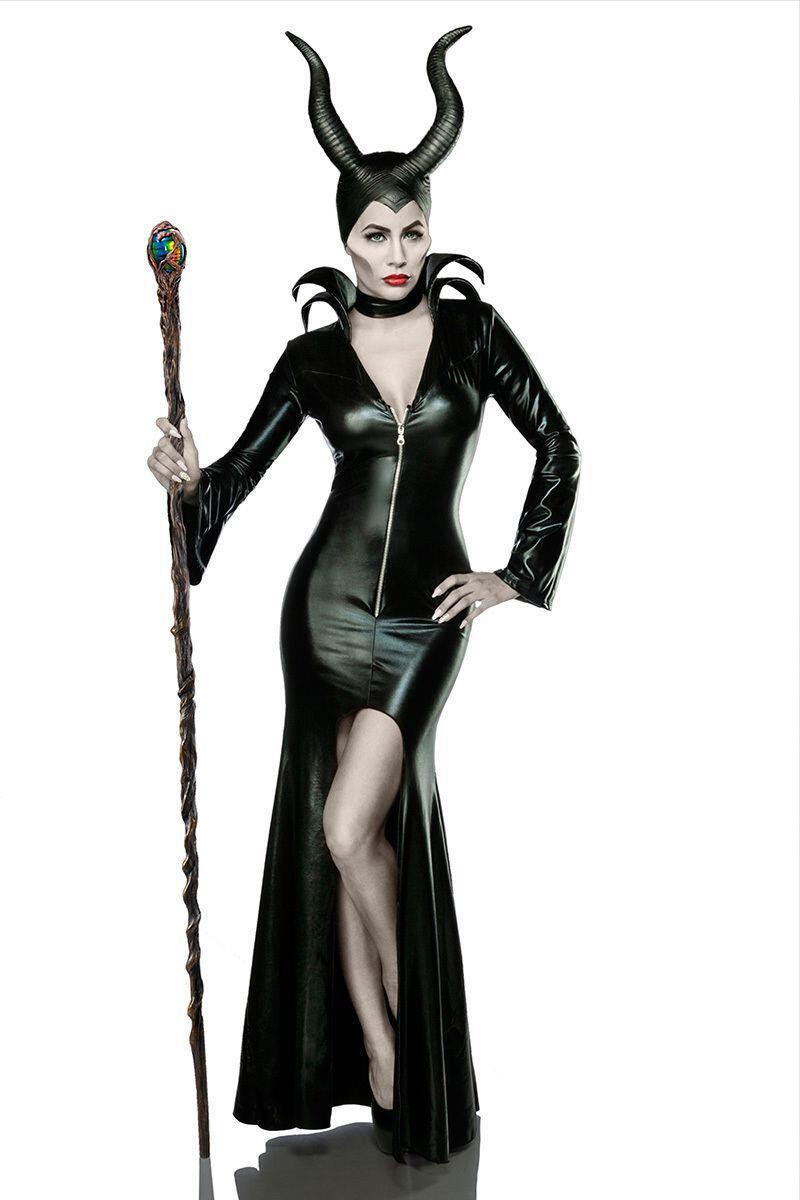 Karneval Halloween Damen Kostum Mistress Of Evil Faschingskram