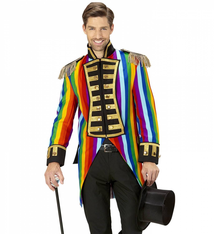 Karneval Herren Kostüm Jacket Frack Rainbow - Faschingskram