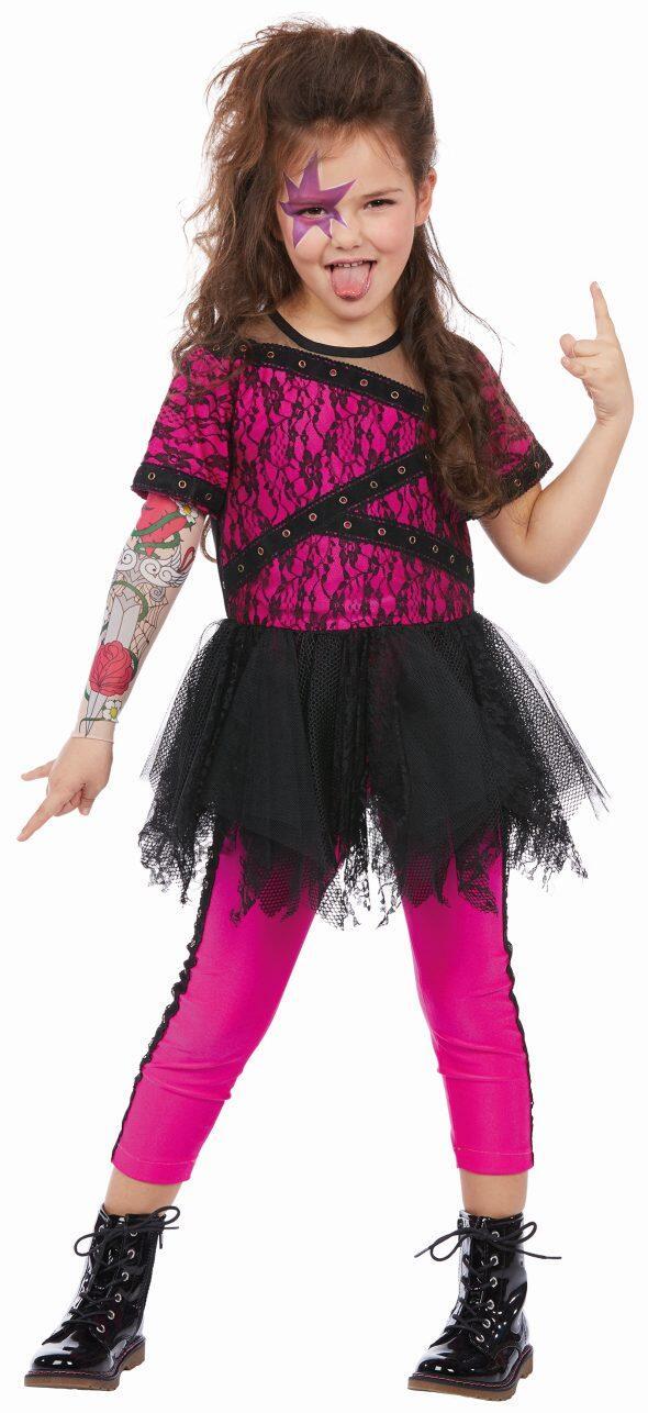 Karneval Madchen Kostum Crazy Punk Faschingskram