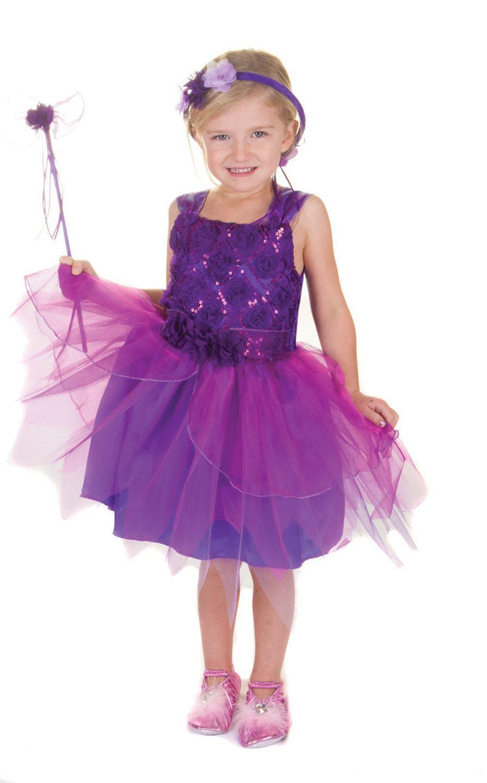 karneval kinder m dchen kost m fee violett faschingskram. Black Bedroom Furniture Sets. Home Design Ideas