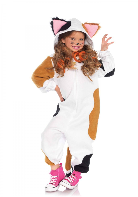 Leg Avenue Karneval Kinder Kostum Calico Katze Onesie