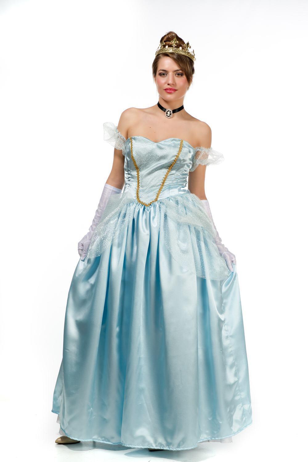 Karneval Damen Kostum Mitternachts Prinzessin Faschingskram