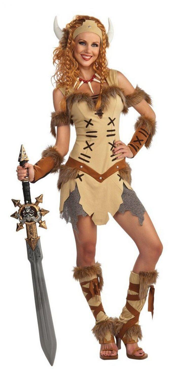 Karneval Damen Kostum Wikinger Prinzessin Faschingskram