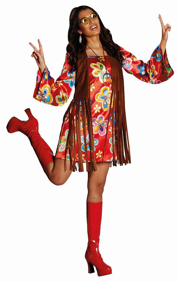 Karneval Damen Kostum Hippie Jutta Faschingskram