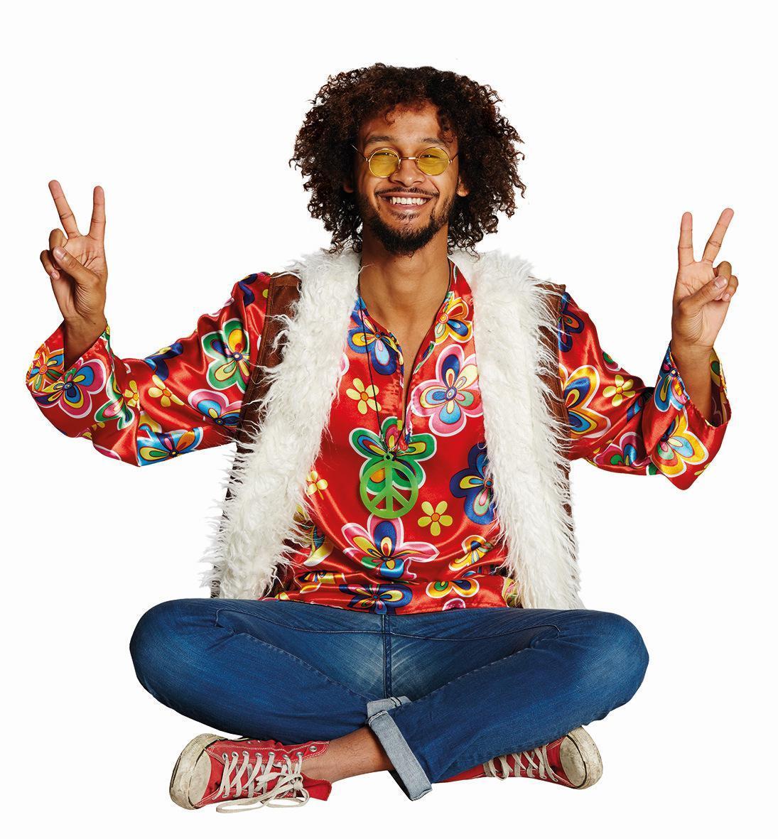 karneval herren kost m hippie faschingskram. Black Bedroom Furniture Sets. Home Design Ideas