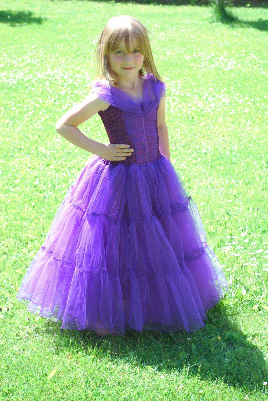 MINISA Mädchen Kostüm Prinzessin Ballkleid lila