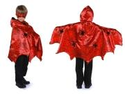 Karneval Halloween Kinder Spinnen-Cape rot