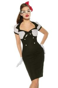 Damen Kleid Abiballkleid Pin-Up Vintage-Kleid