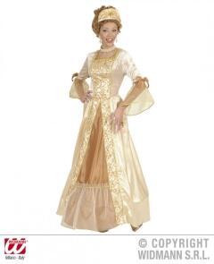 Karneval Damen Kostum Gold Prinzessin Faschingskram