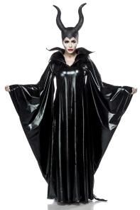 Karneval Halloween Damen Kostüm Cape Maleficient Lady