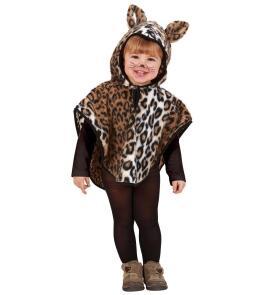 Karneval Kinder Kostum Leoparden Cape Faschingskram