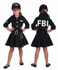 Karneval Madchen Kostum Polizei Fbi Agent Faschingskram