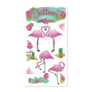 Karneval Tattoo Pink Flamingo Faschingskram
