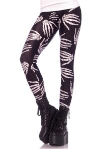 Leg Avenue Karneval Damen Leggings Boney Hands