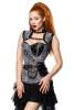 Atixo Damen Corsage Steampunk Grey Lace