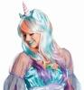 Karneval Damen Perücke Einhorn Magic Unicorn