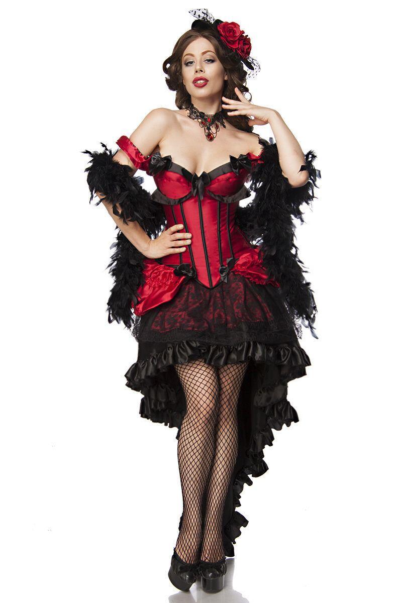 karneval damen kost m burlesque saloon girl faschingskram. Black Bedroom Furniture Sets. Home Design Ideas
