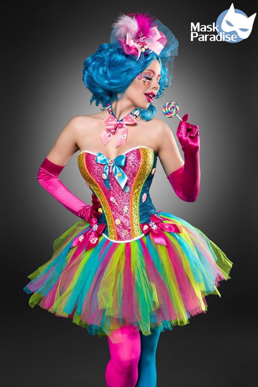 karneval damen kost m candy girl faschingskram. Black Bedroom Furniture Sets. Home Design Ideas