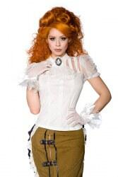 Damen Steampunk Shirt weiß