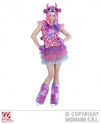Widmann Karneval Damen Kostüm Monster Girl pink