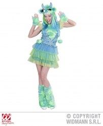 Widmann Karneval Damen Kostüm Monster Girl grün