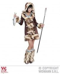 Karneval Damen Kostüm Eskimo