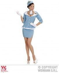 Karneval Damen Kostüm Retro Hostess