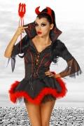 Karneval Halloween Damen Kostüm Teufel HELL RAISER
