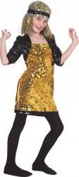 Karneval Mädchen Kostüm Disco-Kleid