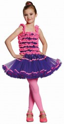 Karneval Kinderkostüm Mädchen Kostüm Ballerina lila-pink