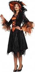 Karneval Halloween Damen Kostüm Luxus Hexe